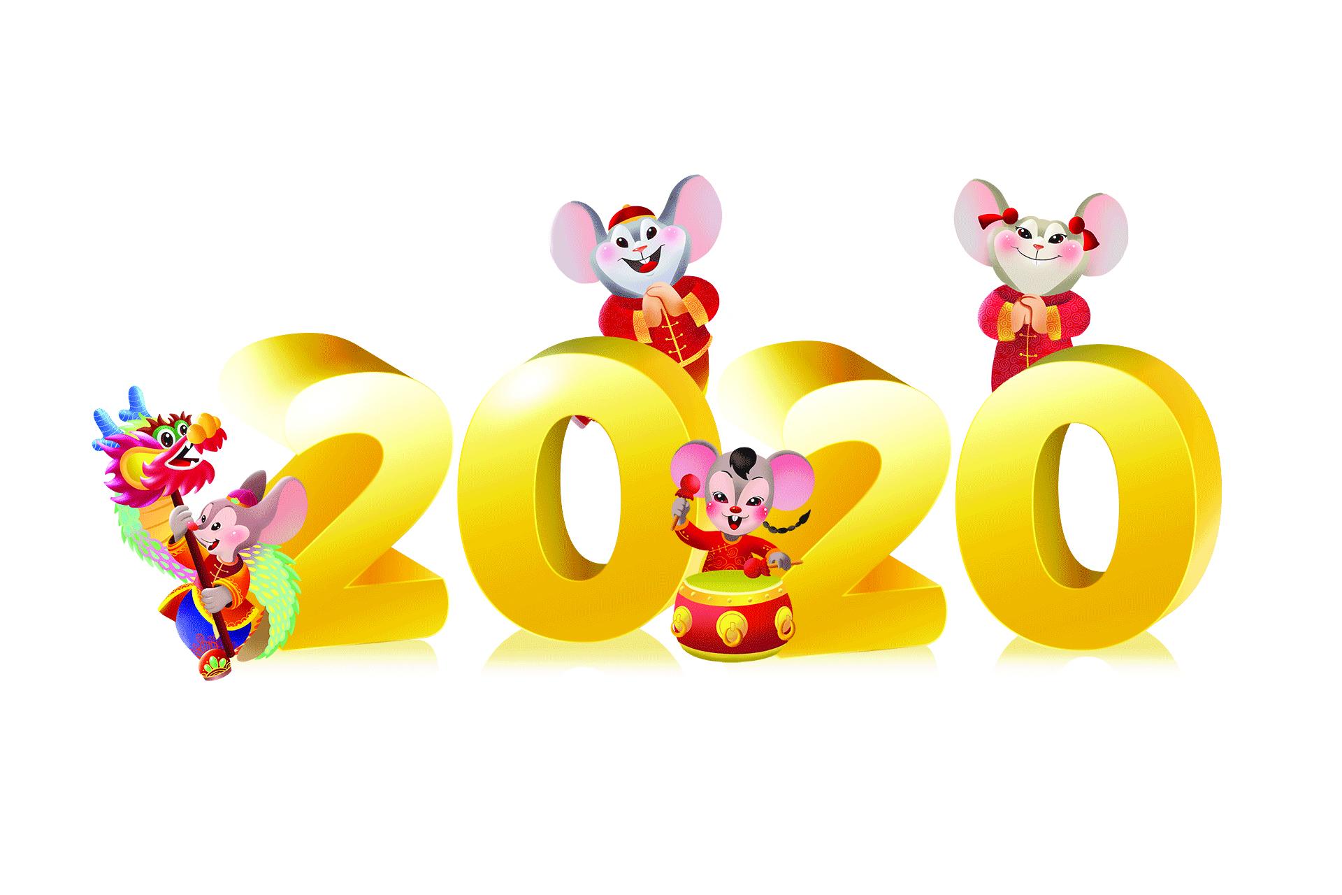 瑞荣绘画教室的孩子鼠年画鼠 给中华导报的读者送祝福