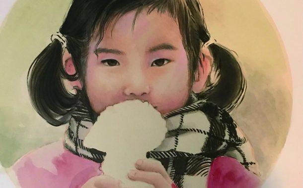 2020年岁末瑞荣中国人物画作品欣赏《我的女儿,和她的儿子》
